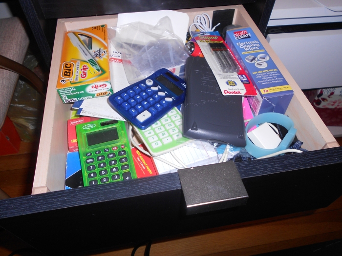 desk drawer - before