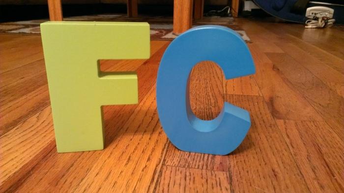 F&C block letters