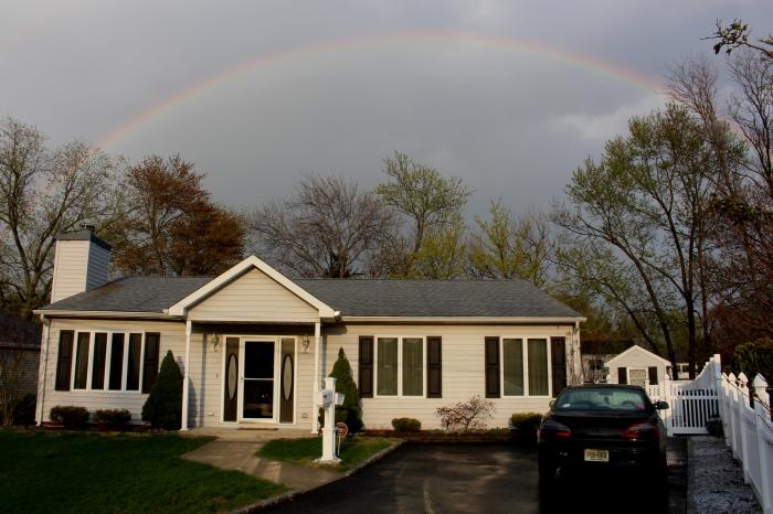 April 2014 Rainbow over house