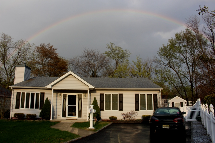 April 2014 Rainbow over house