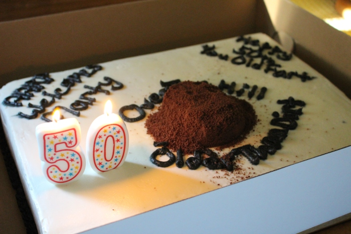 Dad's surprise 50th - cake